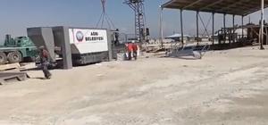 Ağrı'da en büyük asfalt plentinin kurulumu için çalışmalar başladı