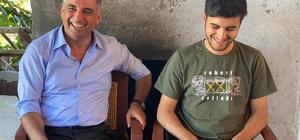 Milletvekili Erol, başarılı öğrenci Mahir'le bir araya geldi