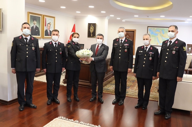 Vali Atay, Jandarmanın 182. Yılını kutladı Komutanlar Vali Atay'ı ziyaret etti