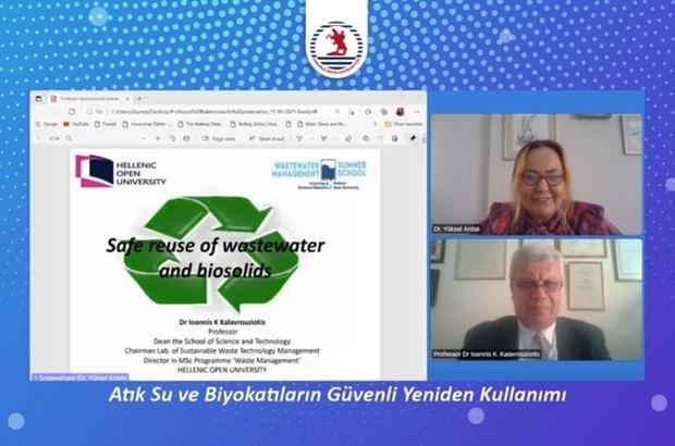 """Kalavrouziotis: """"Arıtılmış evsel atık sular, tarımsal ürün sulaması için yeniden kullanılmalı"""" ÇEVSAM Söyleşilerine Prof. Dr. Ioannis Kalavrouziotis konuk oldu"""