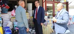 Başkan Yalçınkaya'dan esnaf ziyareti