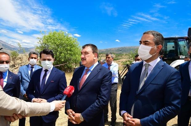 """Doğanyol atık su arıtma tesisi temeli atıldı Malatya Büyükşehir Belediye Başkanı Selahattin Gürkan: """"Malatya'ya 12 adet arıtma tesisi yapıyoruz"""""""