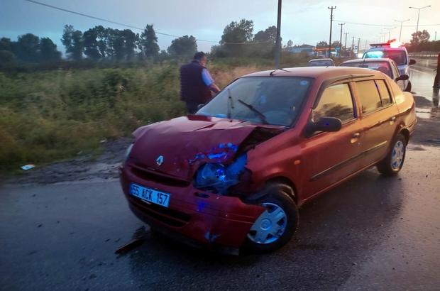 Samsun'da otomobil tır ile çarpıştı: 1 yaralı