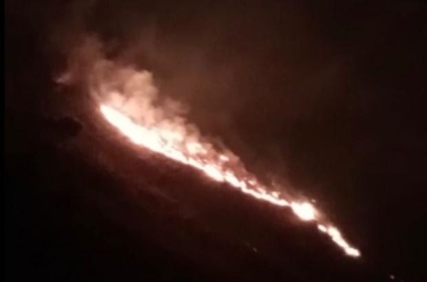Elazığ'da örtü yangını, ekipler müdahale ediyor