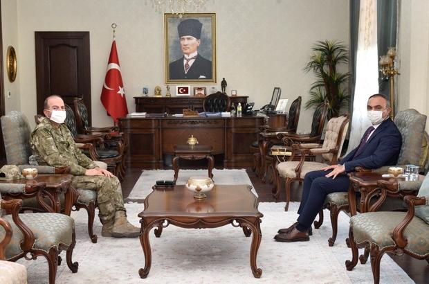Tümgeneral Ergün'den Vali Soytürk'e ziyaret