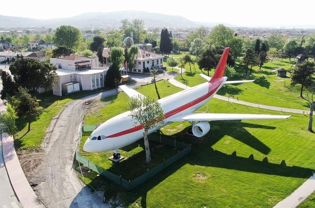 Uçağın yanına 2 adet vagon yerleştirilecek Başkan Yüce'den kütüphane ve kafeterya vagon müjdesi