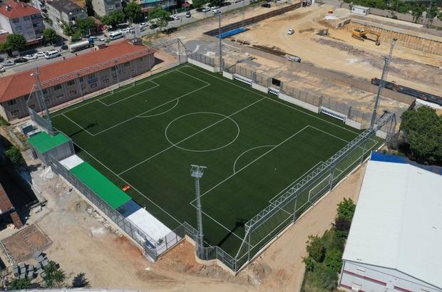 Gebze'nin yeni futbol sahası hizmete sunuldu