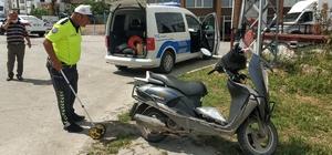 Samsun'da motosiklet ile otomobil çarpıştı: 1 yaralı