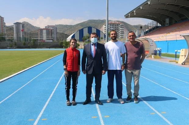 Ali İhsan Kabakçı, atletleri ziyaret etti