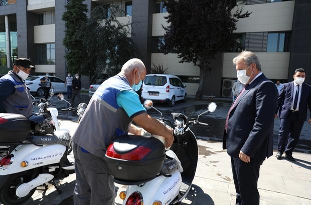 Çevreci belediyeden 10 adet elektrikli motosiklet