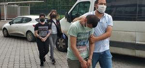 Bekçiler tarafından uyuşturucuyla yakalan 2 kişi adliyeye sevk edildi