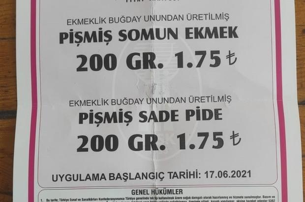 Adana'da ekmeğin fiyatı 1.75 TL oldu