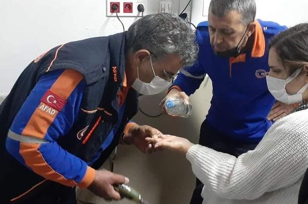 AFAD ekipleri, parmakta sıkışan yüzüğü çıkarttı