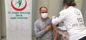 Bilecik'te sahaya çıkan mobil aşı ekipleri bir günde 2 bin çalışanı aşıladı Bilecik'te artık aşı öalışanların ayağına gidiyor