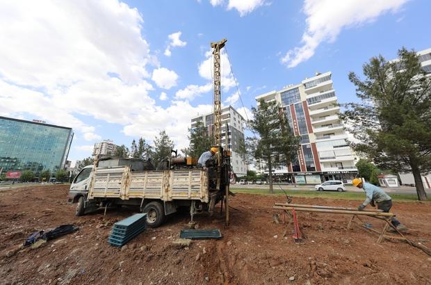 Diyarbakır'da tramvay projesi için zemin etüt çalışmalarına başlandı