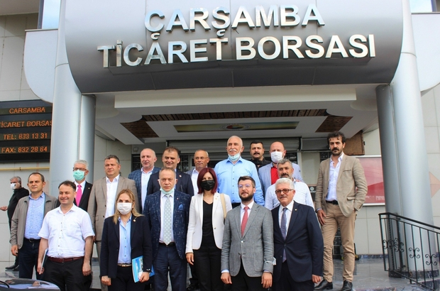 CHP heyetinden Çarşamba Ticaret Borsası'na ziyaret