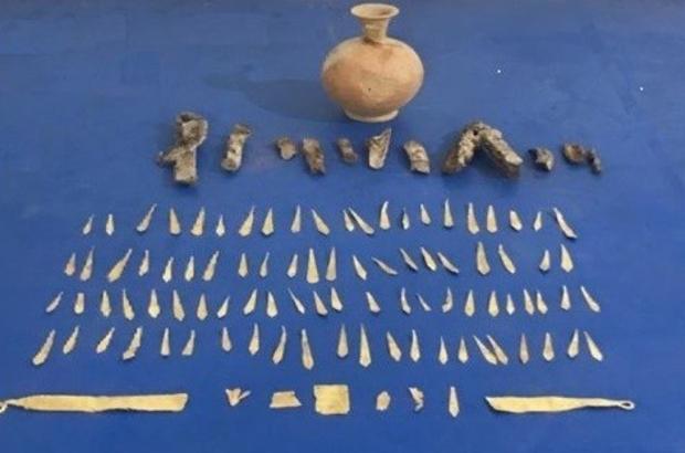 Romalılardan kalma altın tacı satamadan yakalandılar