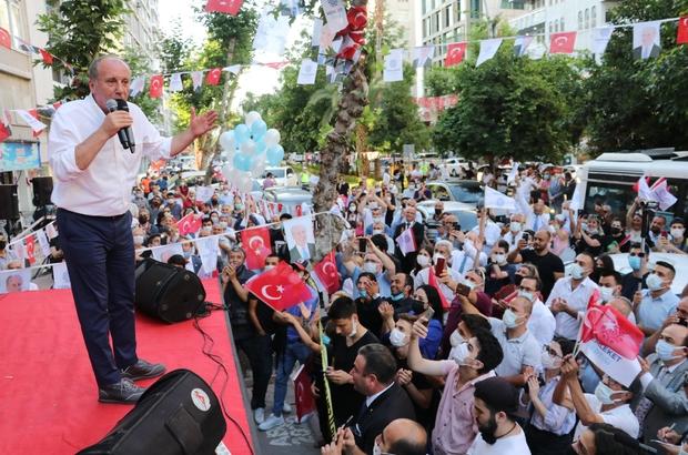 Muharrem İnce'den Kemal Kılıçdaroğlu ve Zeydan Karalar'a tepki Memleket Partisi Adana İl Başkanlığı binası açıldı Memleket Partisi Genel Başkanı Muharrem İnce Adana'da