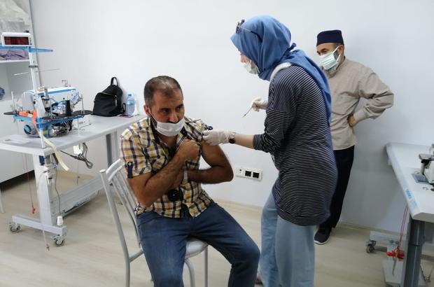 Kahta OSB'de mobil aşı uygulaması başladı