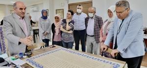 Meydan Camiinin hat tabloları tamamlandı Manisa merkezdeki 4 minareli tek cami olacak olan Meydan Camiinde birbirinden değerli eserler sergilenecek