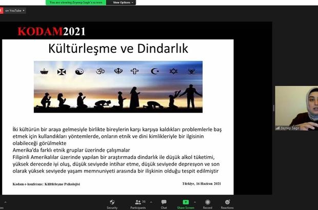 """Kilis'te """"Kültürleşme Psikolojisi"""" başlıklı e-konferans yapıldı"""