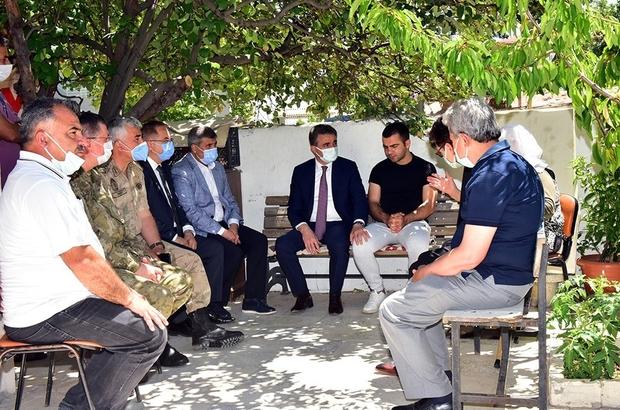 Pençe Operasyonu Gazisi Mertcan Fırtına unutulmadı Malatya protokolü, Gazi Mertcan Fırtına'yı evinde ziyaret etti