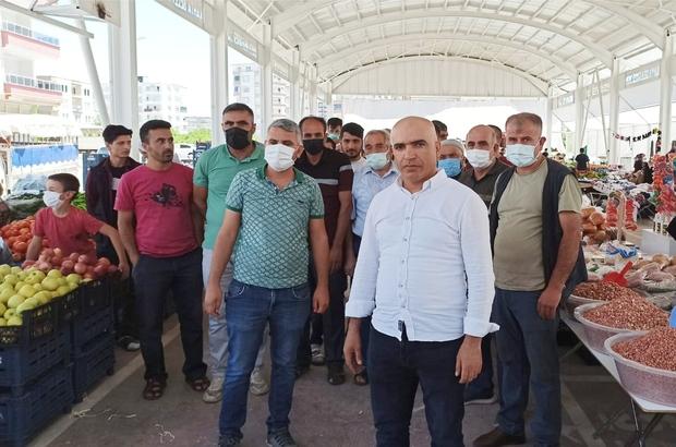 Kahta'daki pazarcılardan hal pazarında perakende satışa tepkisi