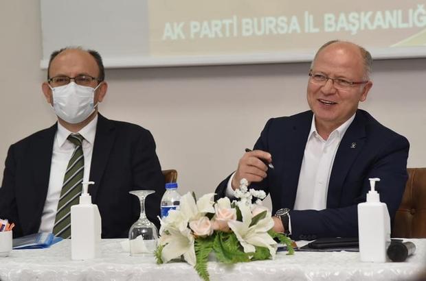 """17 ilçe başkanı ile Bursa'nın bugünü ve geleceği konuşuldu Gürkan: """"Bursa'mızın geleceği için çalışıyoruz"""""""