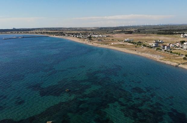 Mavi bayraklı Geyikli sahillerinde müsilaj yok, huzur var Tatilciler, mavi bayraklı Geyikli sahillerinde deniz, kum ve güneşin tadını çıkarıyor