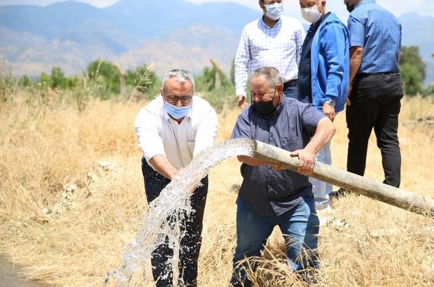 Gölhisar tarımsal sulama kuyusu faaliyete geçti ASKİ, Aydınlı çiftçilerin yanında