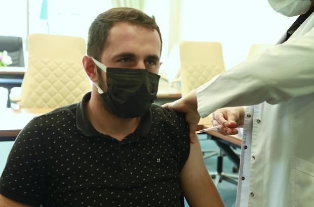 Başiskele Belediyesi personeli kovid-19 aşısı oldu