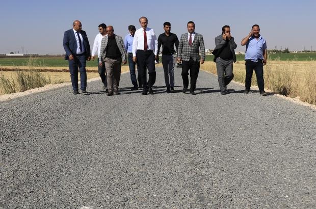 Akçakale'de kırsal bölgelere yakışır yollar yapılıyor
