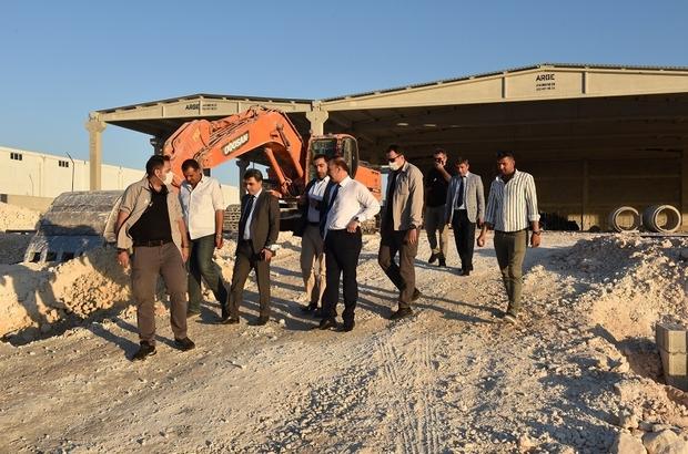 Vali Erin OSB'de inşaatları devam edem fabrikaları inceledi