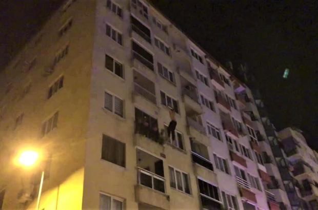Kendini 4. kattan boşluğa bıraktı Hava yatağı sayesinde ölümden kurtuldu