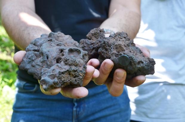 Bahçesinde meteor buldu 27 Şubat'ta düşen meteoru bahçesinde buldu