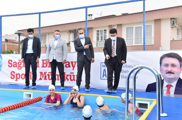 Balıkesir'e portatif yüzme havuzu Altıeylül'de yüzme bilmeyen kalmayacak