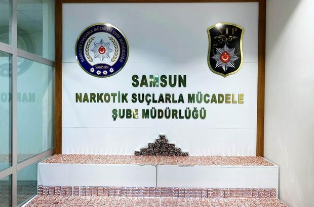 Samsun'da 7 bin 756 adet uyuşturucu hap ele geçti: 1 gözaltı