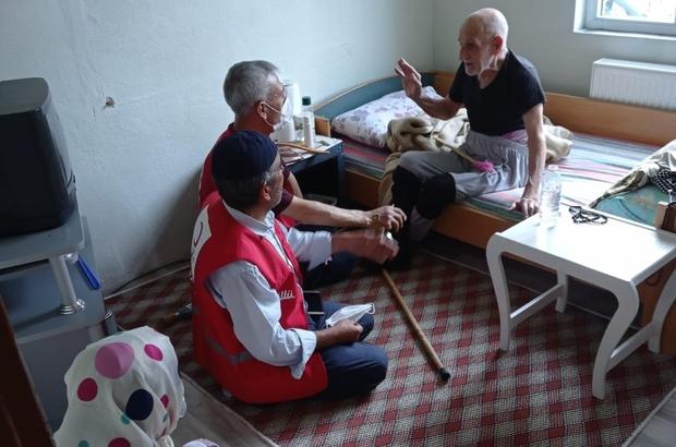 Türk Kızılayı'ndan Dicle'de engelli, hasta ve yaşlı ailelere ziyaret