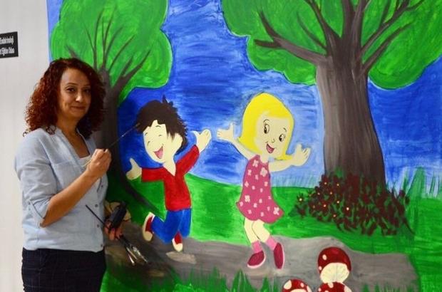 Çocuklar hastane korkusunu resimlerle aşacak
