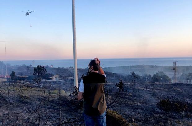 Altınkum'da 20 dekar makilik alan yandı