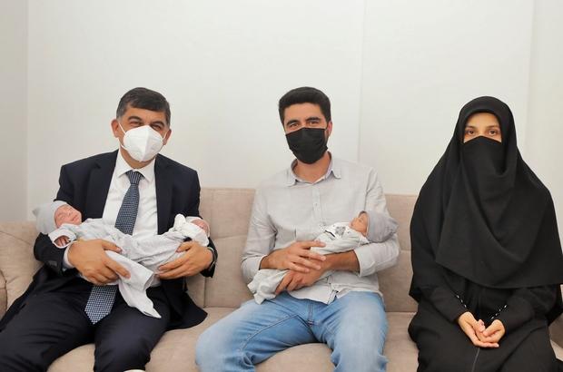Fadıloğlu, Ayhan ailesinin üçüz bebek sevincine ortak oldu
