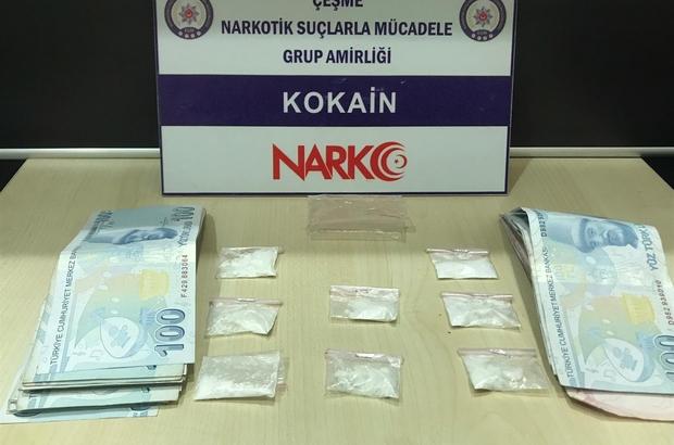 Çeşme'de uyuşturucuya geçit yok Çeşme'ye uyuşturucu sokmak üzereyken yakalandılar