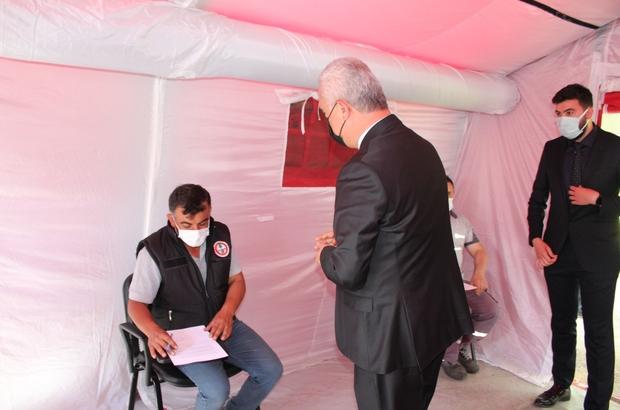 """Kastamonu Organize Sanayi Bölgesi'nde """"mobil aşı"""" uygulaması başladı Vali Çakır: """"Şimdiye kadar 240 bin kişiyi aşıladık"""""""