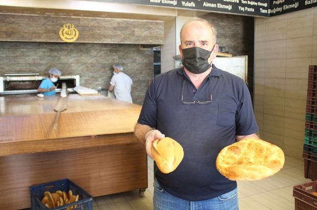 """Meslektaşlarına kızdı, ekmeğe indirim yaptı 44 yıllık fırıncı Halil Naci Mülazimoğlu: """"230 gram ekmeği şu anda biz 1 buçuk liradan satıyoruz"""""""