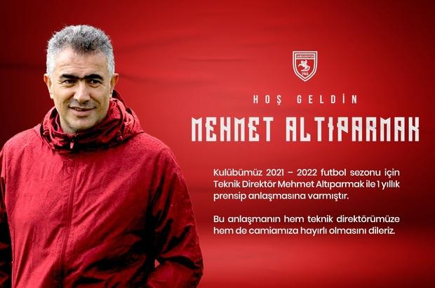 Samsunspor teknik direktörlüğe Mehmet Altıparmak'ı getirdi Mehmet Altıparmak ile 1 yıllık prensip anlaşmasına varıldı Altıparmak'ın çalıştıracağı 18. takım Samsunspor oldu
