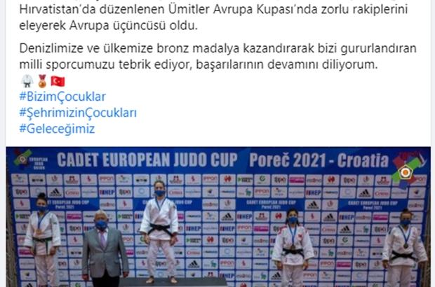Denizli Büyükşehirli judocu Oğuz Avrupa 3'ncüsü