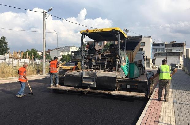 Osmangazi'de asfalt çalışmaları hız kesmiyor Hamitler'de yollar asfaltla yenilendi