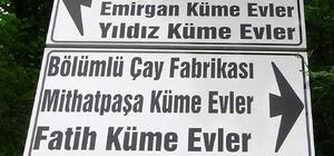 Burası Trabzon'un küçük İstanbul'u Bu tabelaları gören kendini İstanbul'da sanıyor İstanbul'da yaşadıkları 'Emirgan, Taksim, Aksaray, Beylerbeyi, Mithatpaşa, Yıldız, Fatih, Kartal' gibi semt isimlerini doğdukları topraklara verdiler