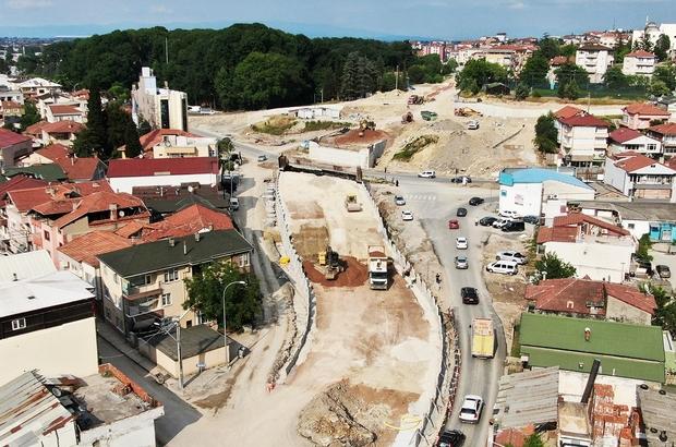 SGK Köprülü Kavşağı'ndaki çalışmaların yüzde 60'ı tamamlandı