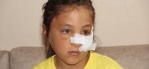 Amcaoğlu küçük kıza demir boruyla dehşeti yaşattı